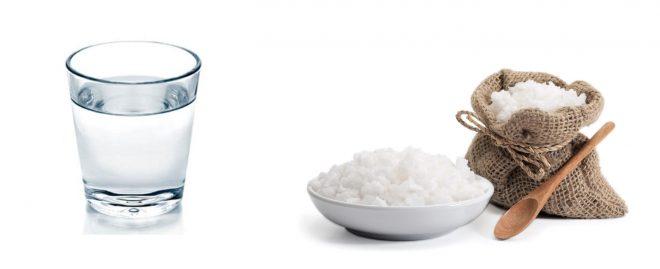Стакан воды и соль